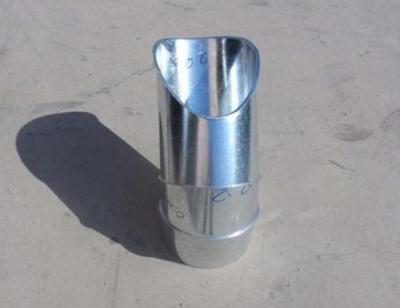 不锈钢异径三通接头螺旋风管配件